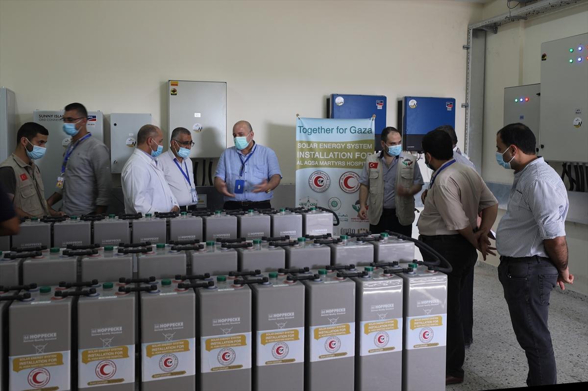Gazze Destek Derneği'nden Gazze'de bir hastaneye güneş enerjisi sistemi