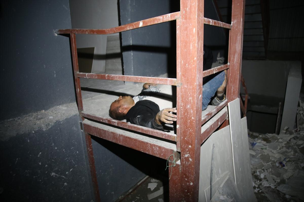 Hırsızlık için girdiği inşaatta polisten kaçmaya çalışırken birinci kattan düştü