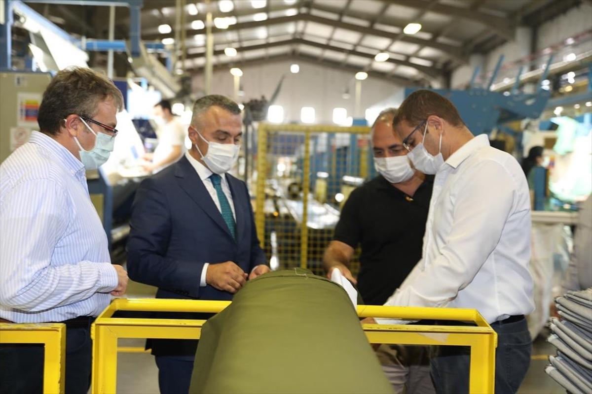 Kırklareli Valisi Bilgin fabrikalarda Kovid-19 denetimi yaptı