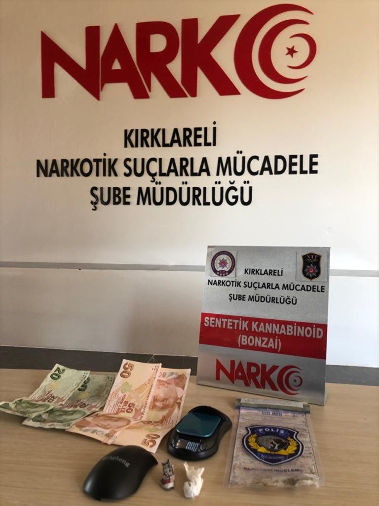 Kırklareli'nde uyuşturucu operasyonunda yakalanan 4 zanlı tutuklandı