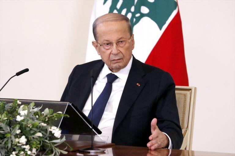 """Lübnan Cumhurnaşkanı: """"Yolsuzluğun, yönetimimizde kök saldığı bir aşamaya geldik"""""""