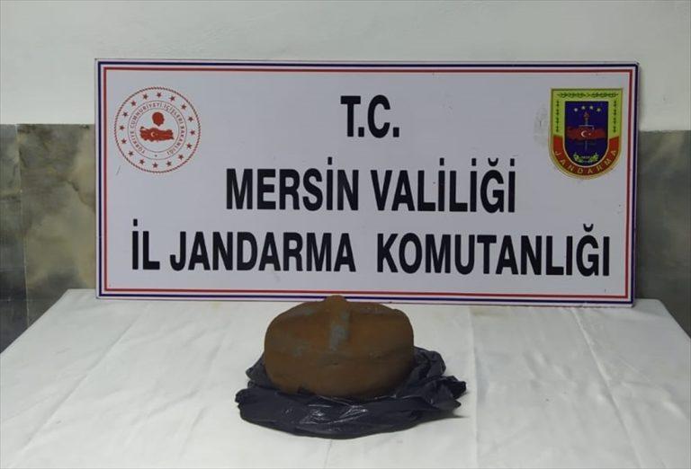 Mersin'de tarihi eser operasyonunda 2 zanlı suçüstü yakalandı