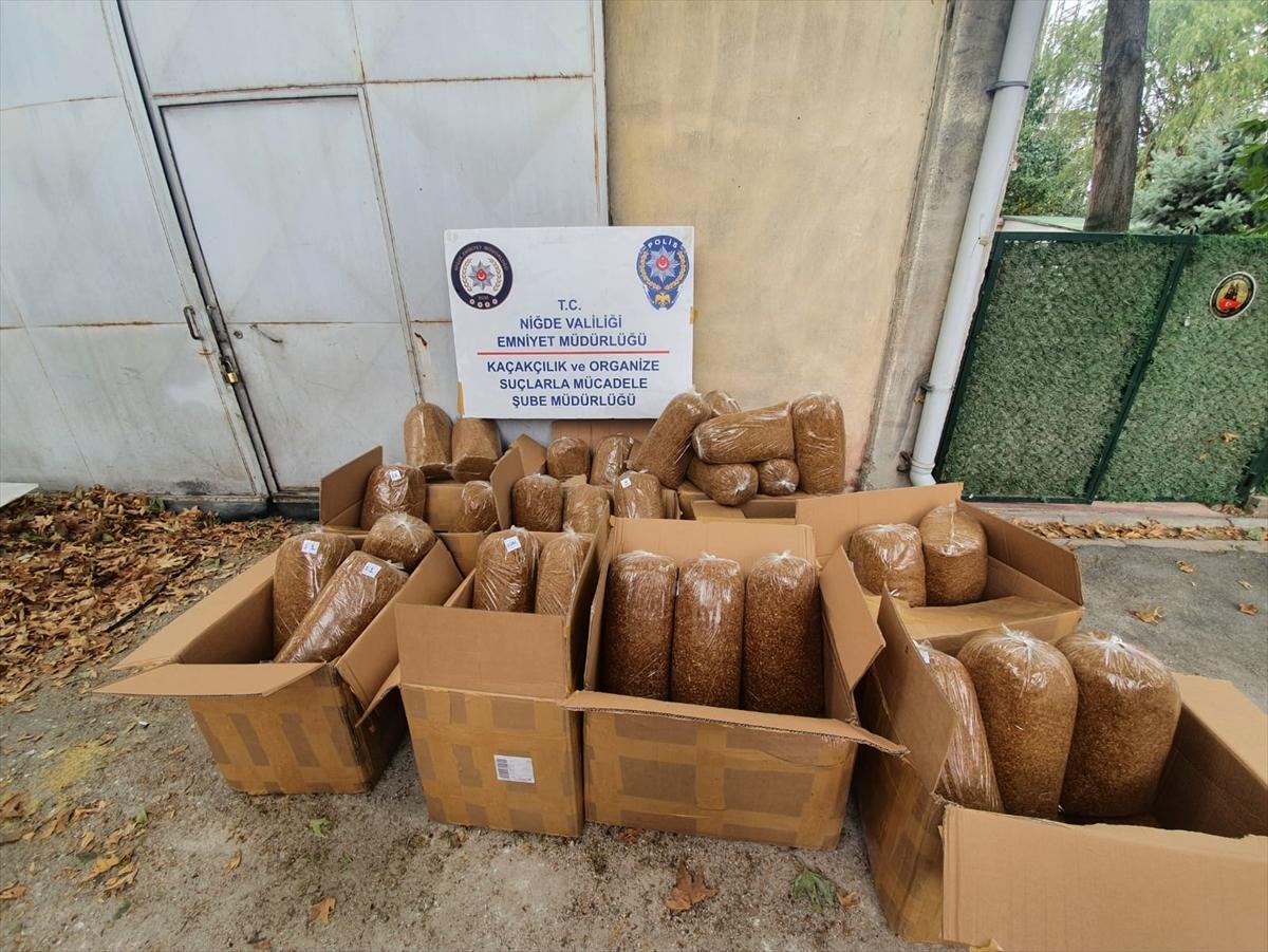 Niğde'de 330 kilogram kaçak tütün ele geçirildi