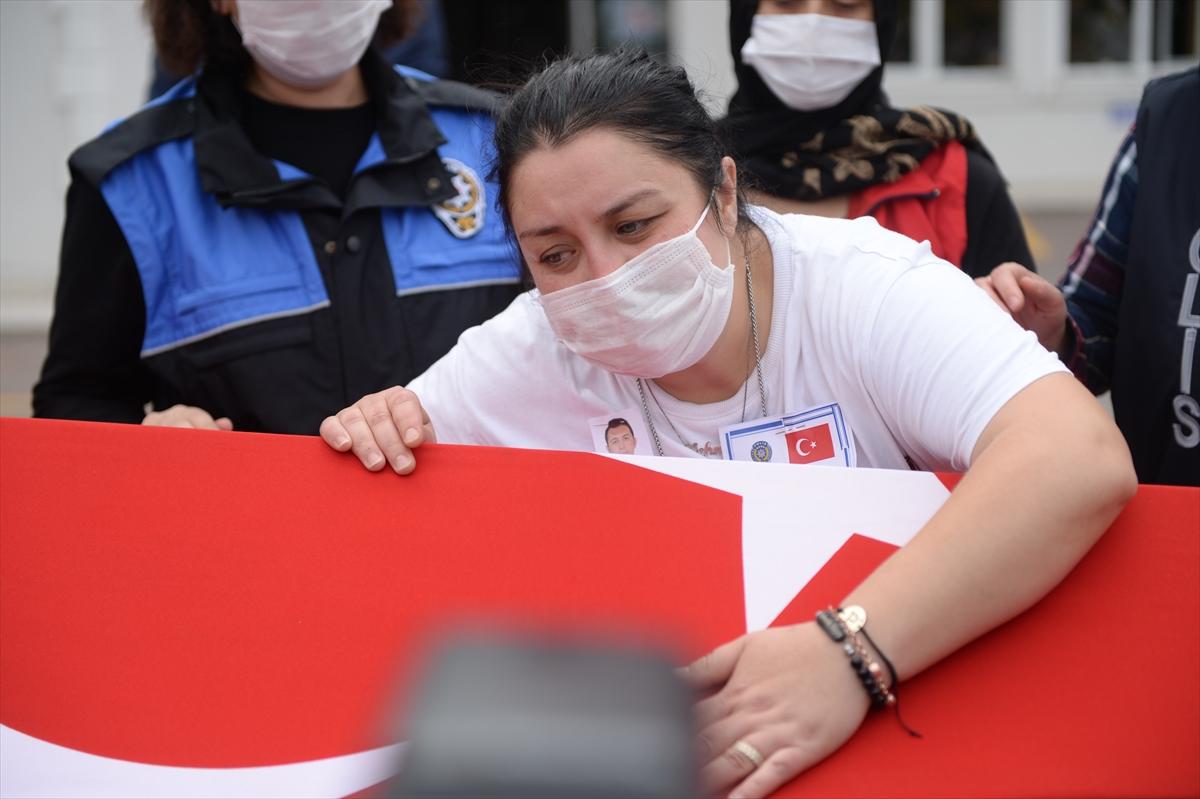 Sakarya'da trafik kazasında şehit olan yunus polisinin cenazesi memleketi Ankara'ya gönderildi