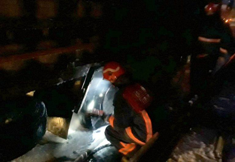 Sakarya'da tüp gaz yüklü kamyonun fren balatalarında çıkan yangın söndürüldü