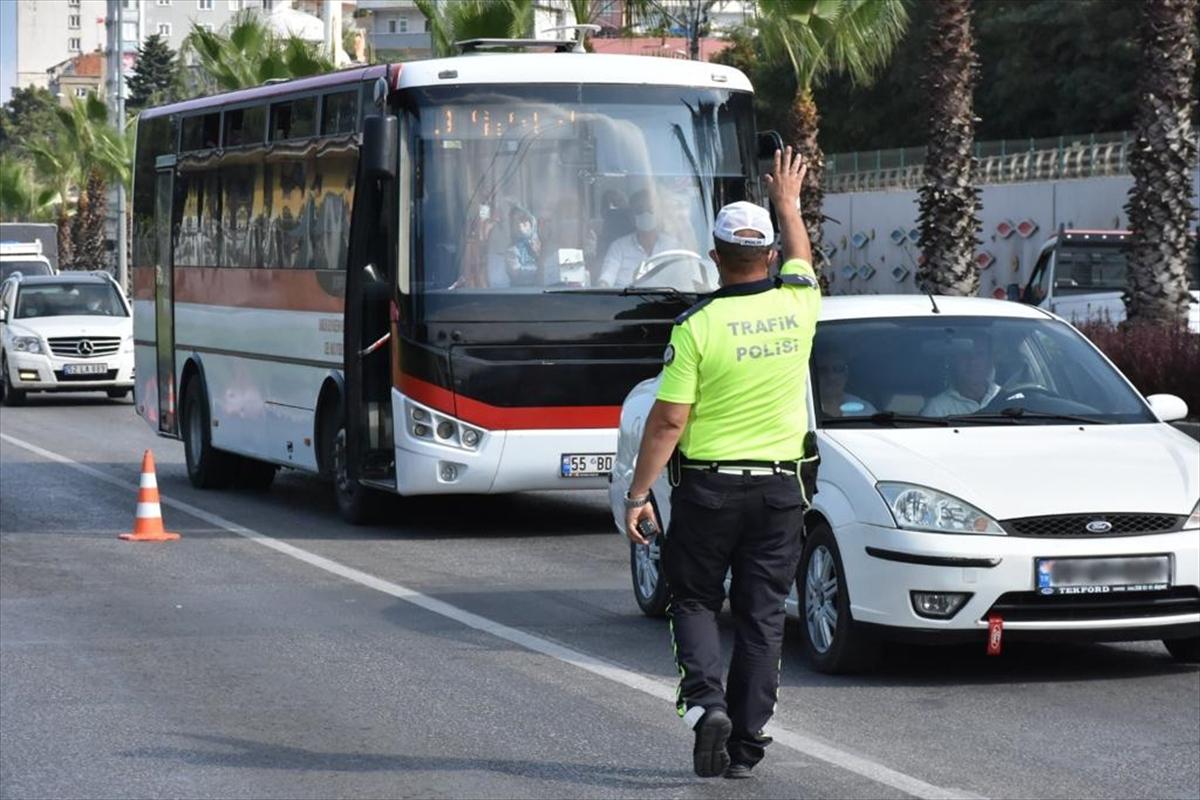 Samsun'da 147 polisle trafik denetimi yapıldı