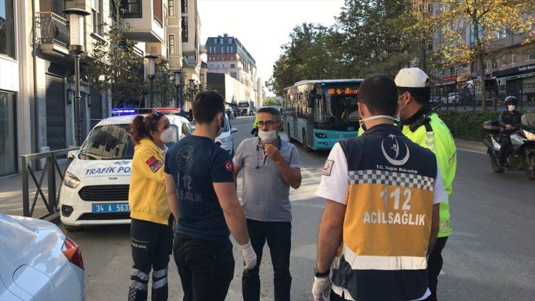Taksim'de karantina ihlali yapan otobüs şoförü hastaneye götürüldü