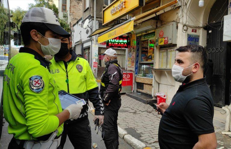 Taksim'de karantina ihlali yapan otobüs şoförü sağlık ekiplerine teslim edildi