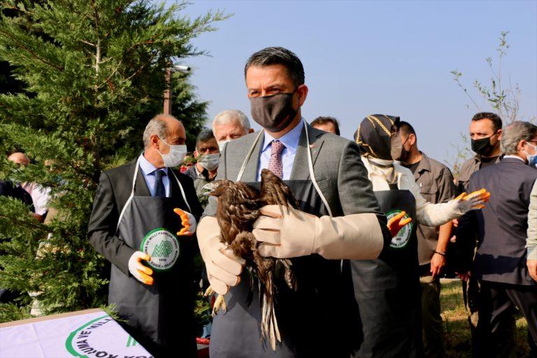 Bakan Pakdemirli Hersek Lagünü Kuş Gözlemevi'nin açılışında konuştu: