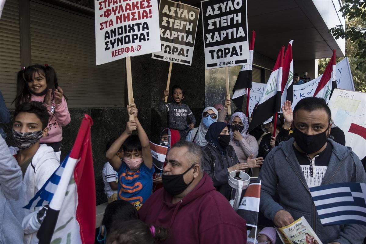 Yunanistan'da sığınmacılar, yaşam koşullarının iyileştirilmesini istedi