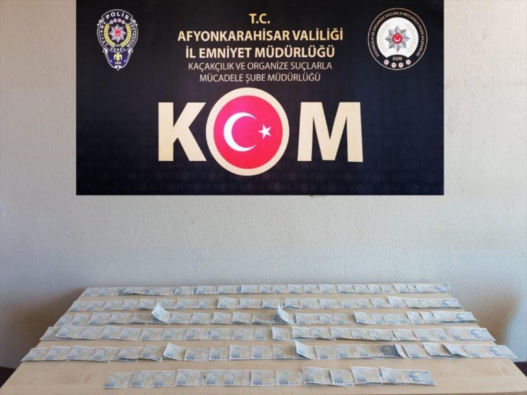 Afyonkarahisar'da sahte para ile yakalan 2 şüpheli gözaltına alındı