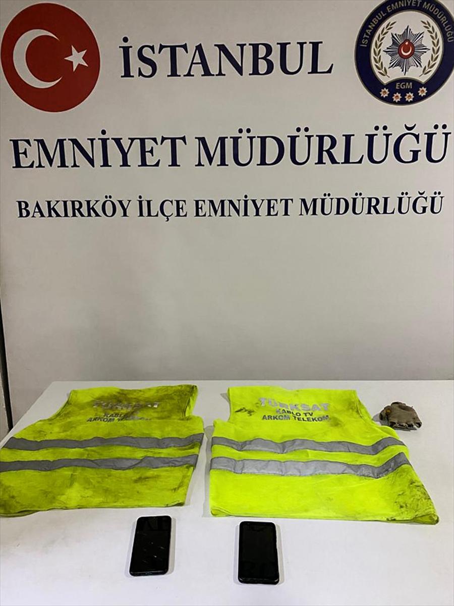 Bakırköy'de fiber kablo hırsızları yakalandı