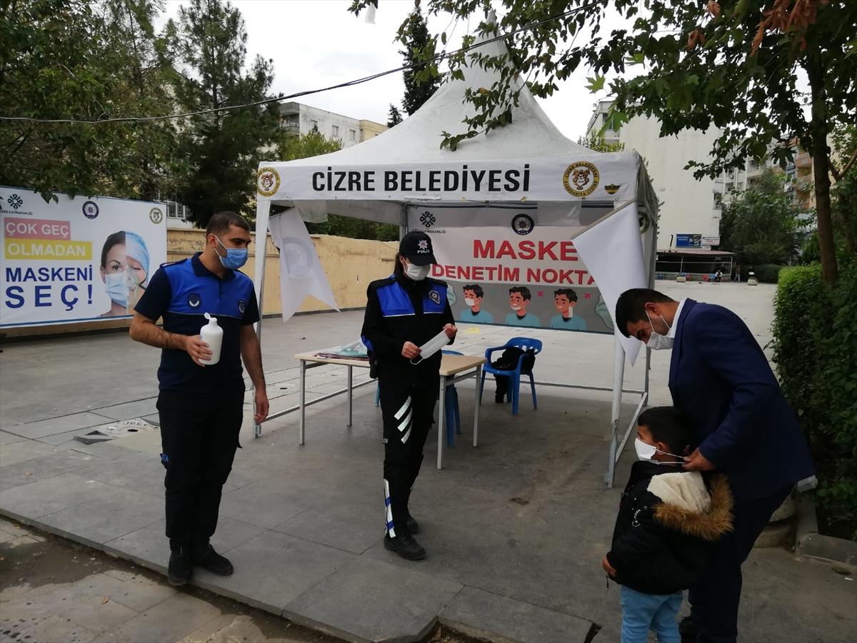 """Cizre'de """"denetim ekipleri"""" Kovid-19'a karşı kontrolleri artırdı"""