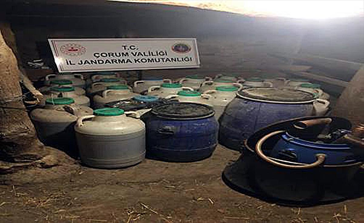 Çorum'da 2 bin 668 litre sahte içki ele geçirildi