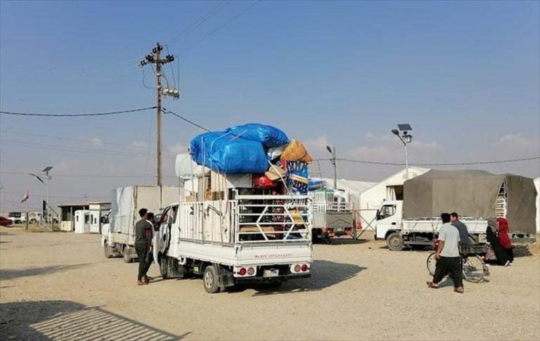 DEAŞ saldırıları nedeniyle Kerkük'teki kamplara sığınan iç göçmenler evlerine dönüyor