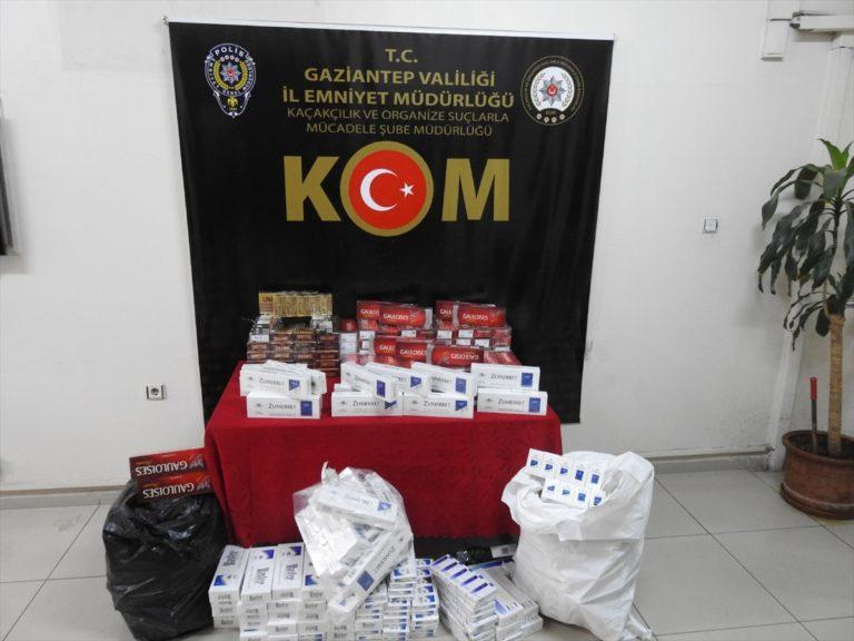 Gaziantep merkezli 3 ilde kaçak sigara operasyonu: 10 gözaltı