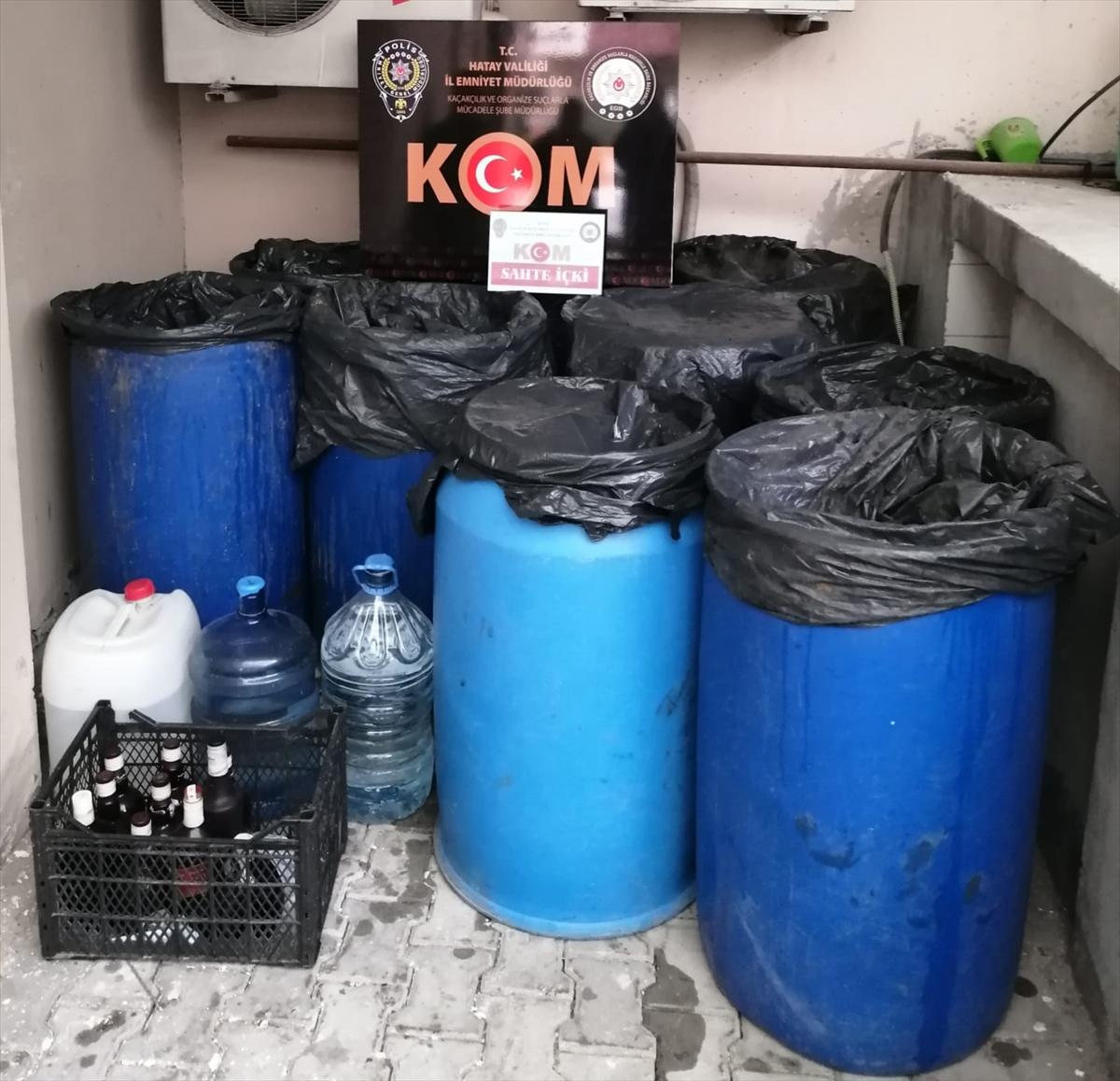 Hatay'da 308 litre sahte içki ele geçirildi