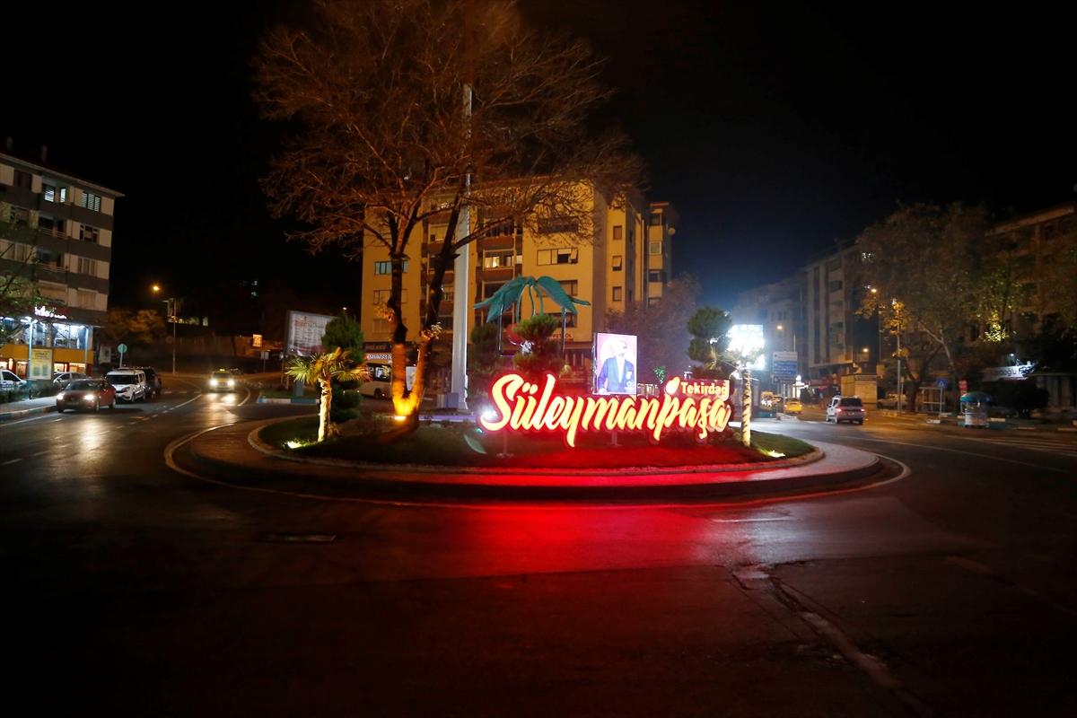 Trakya'da sokağa çıkma kısıtlaması nedeniyle cadde ve sokaklar sessizliğe büründü