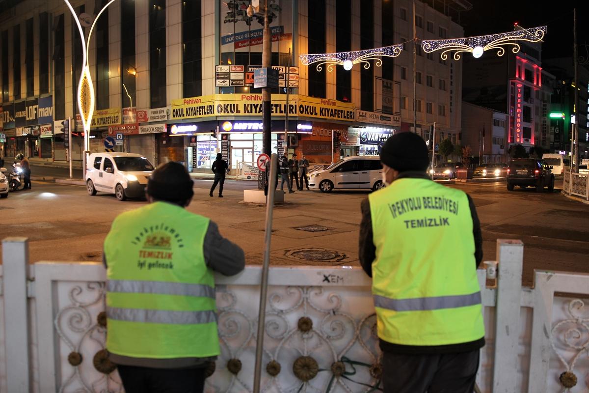Van, Muş, Bitlis ve Hakkari'de sokaklar sessizliğe büründü