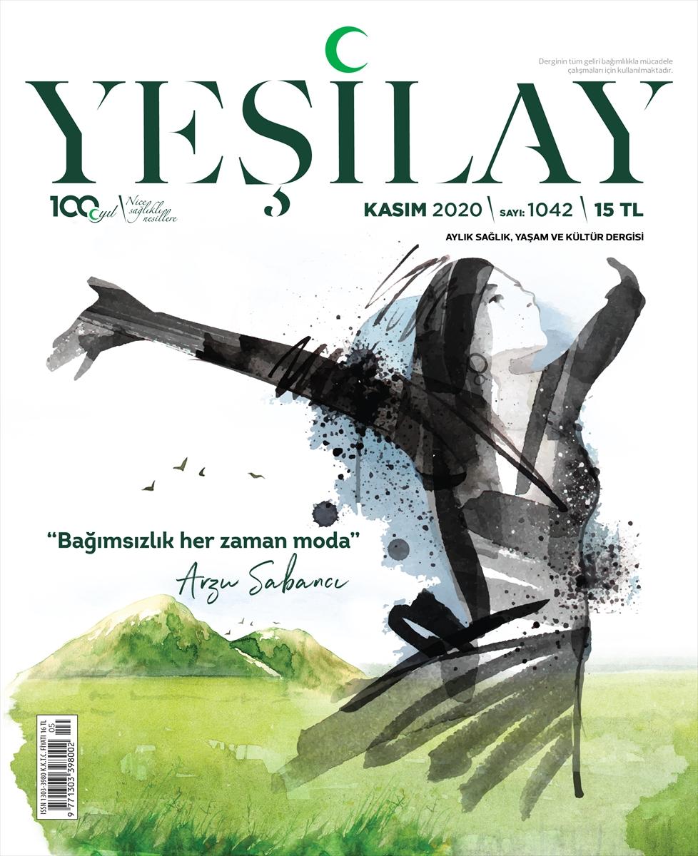 Yeşilay dergisinin kasım sayısının kapağını modacı Arzu Sabancı tasarladı