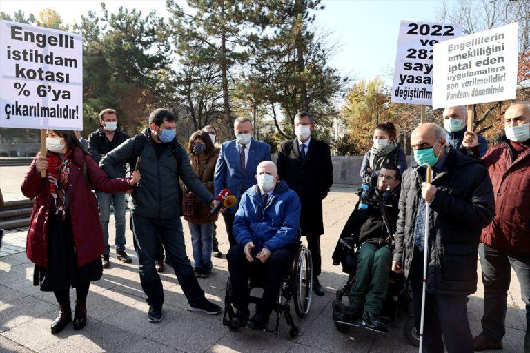 """Engellilerin İstihdamda Hakları Platformundan """"engelli istihdam kotasının arttırılması"""" talebi"""