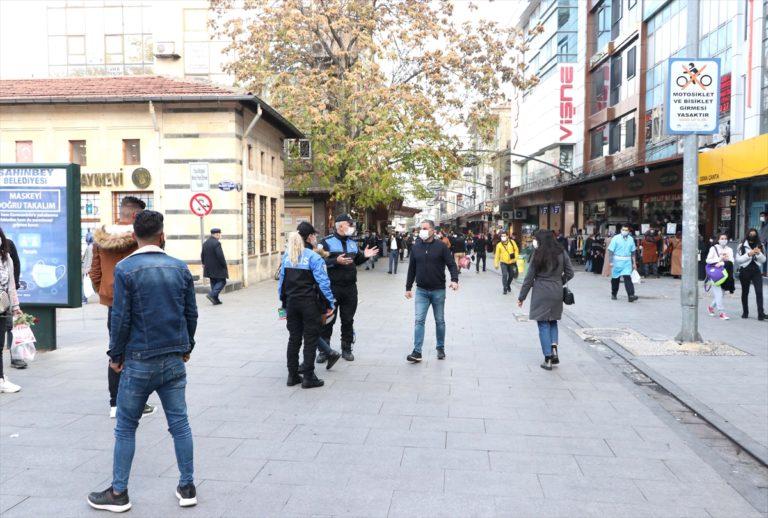 Gaziantep'in işlek noktalarında Kovid-19'a rağmen yoğunluk yaşanıyor