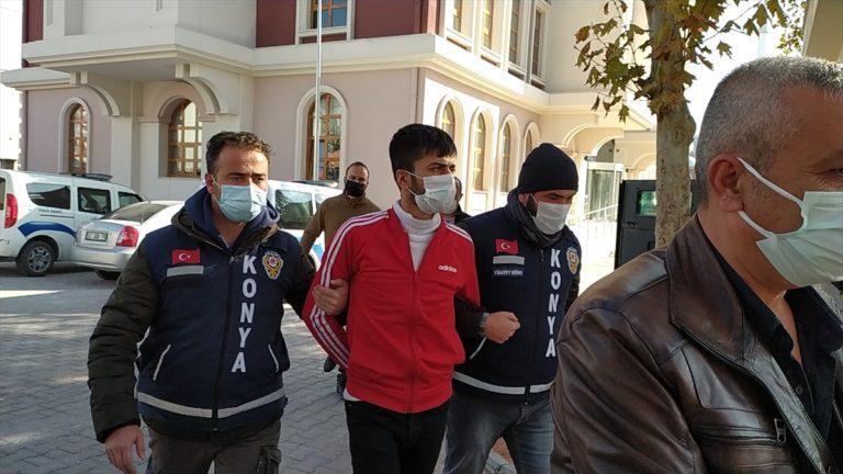 Konya'da polise ateş açıp kovalamacada yakalanan uyuşturucu kullanıcısı adliyeye sevk edildi