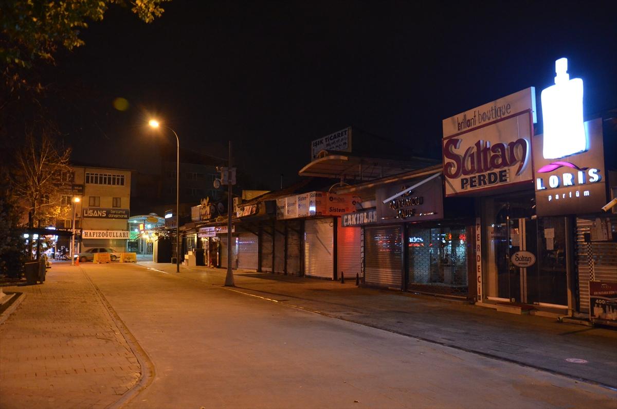 Sokağa çıkma kısıtlamasının başlamasıyla Konya, Afyonkarahisar, Karaman ve Aksaray'da sessizlik hakim oldu