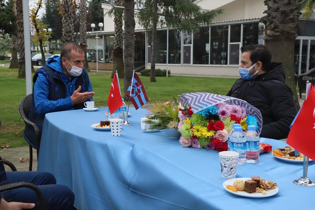 TSYD Trabzon Şubesi, Trabzonspor Teknik Direktörü Abdullah Avcı'yı ziyaret etti